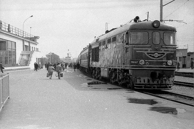 Июль 1965 года. Рига. На платформе Центрального ж/д вокзала