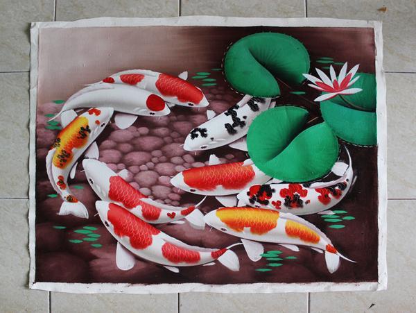 lukisan 3d ikan koi