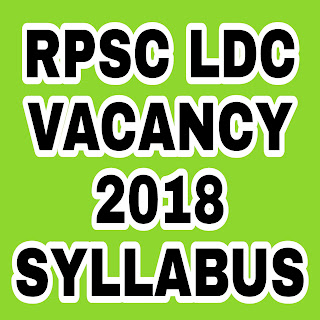 RPSC LDC 2018 Syllabus in Hindi