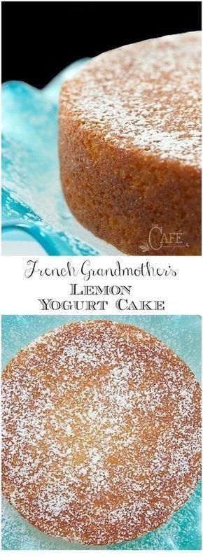 French Grandmother's Lemon Yogurt Cake