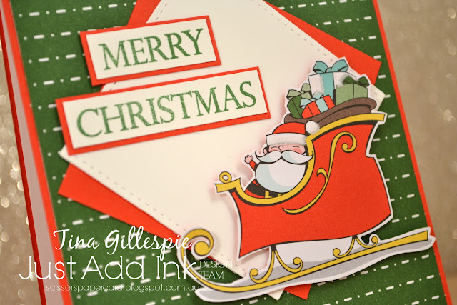 scissorspapercard, Stampin' Up!, Just Add Ink, Merry Christmas To All, Santa's Workshop SDSP, Stitched Shapes Framelits