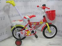 Sepeda Anak Red Fox 569-7 Tongkat Dorong Kemudi 12 Inci