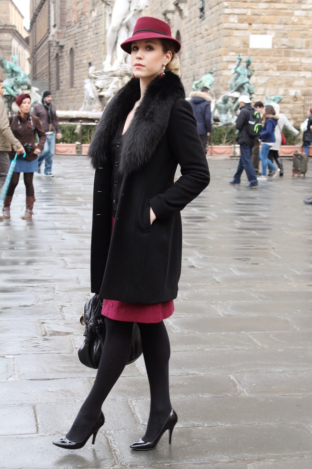 elegant chic winter outfit