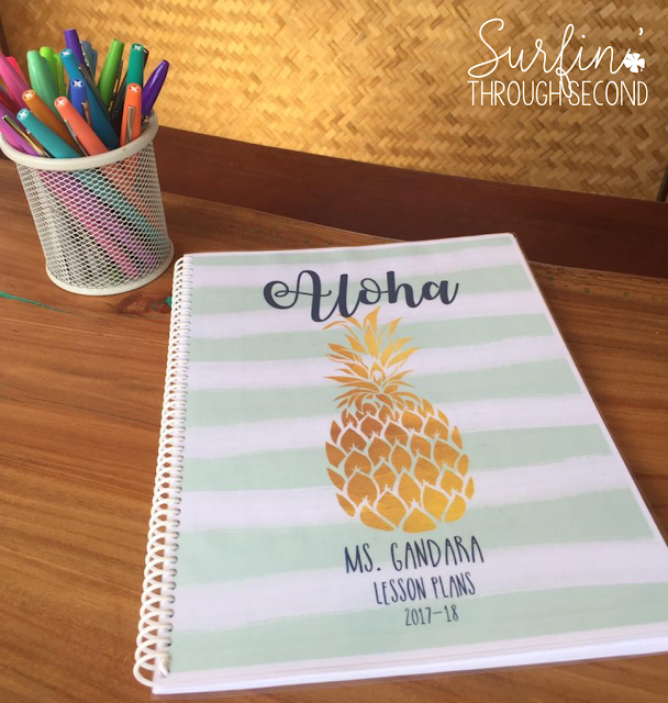 Fun Pineapple themed lesson planner that is editable in Powerpoint. Create exactly what you need for an organized school year.