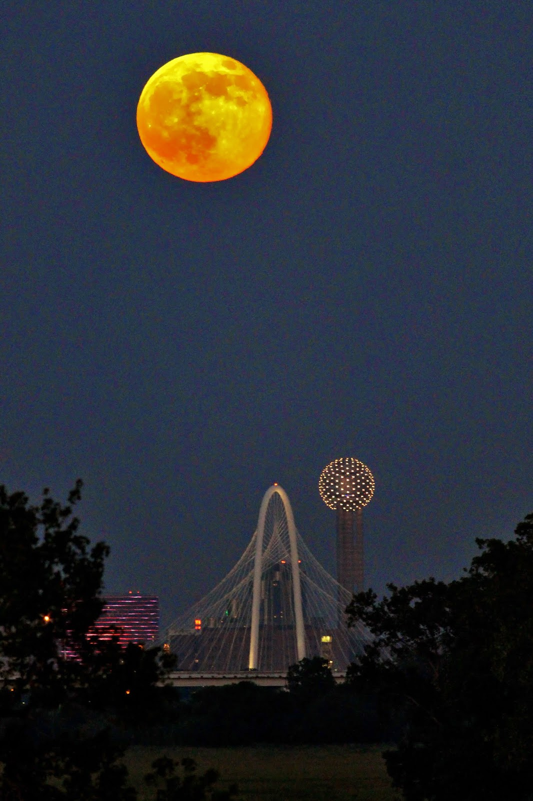 Moon To Moon Luxury Bohemian Interiors Martyn Lawrence: Dallas Trinity Trails: Super Moon And Meteor 2014 Over