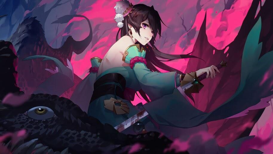 Anime, Fantasy, Girl, Warrior, 4K, #6.999