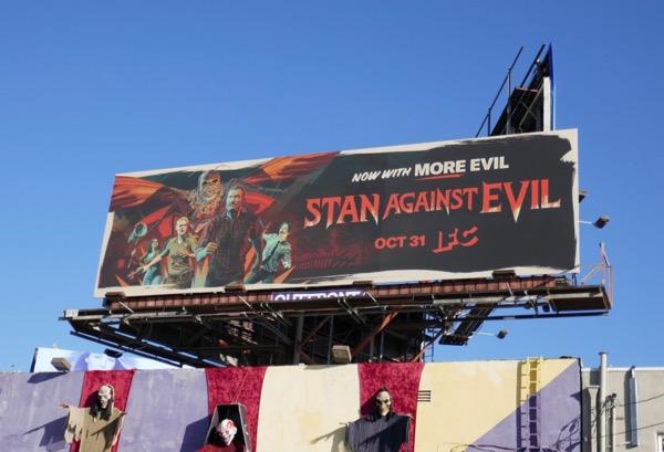 Stan Against Evil season 3 billboard