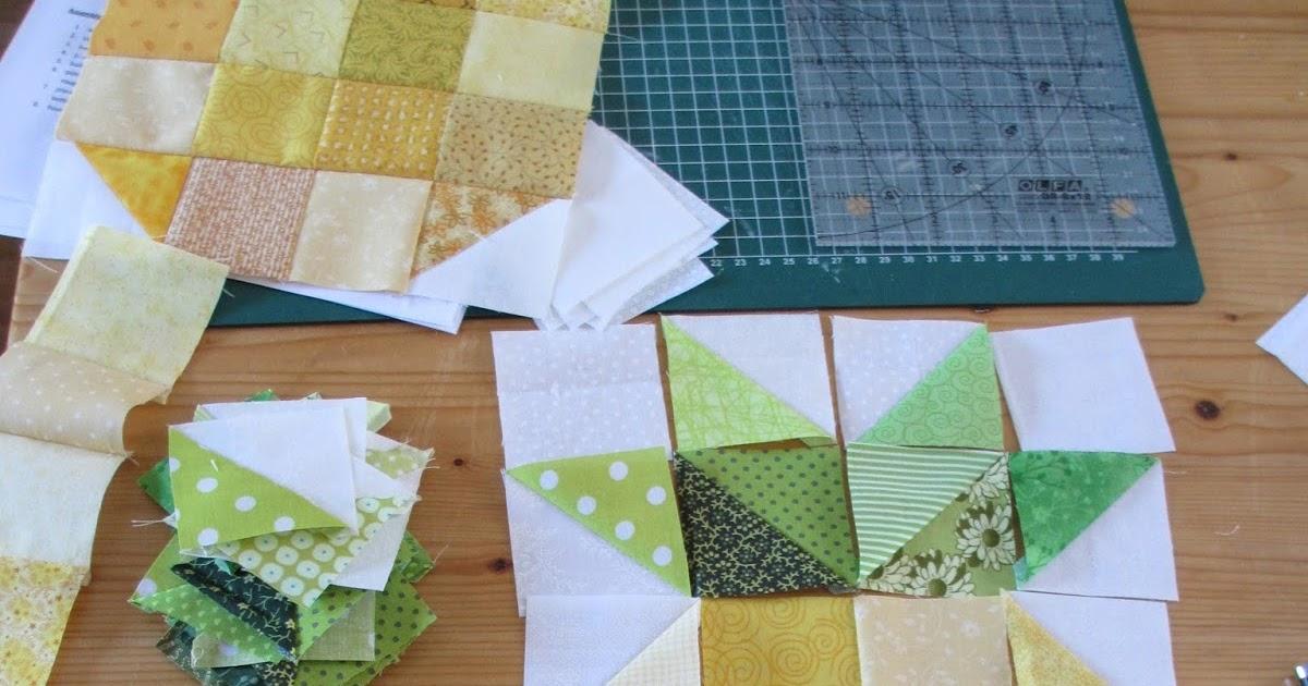 Kleine vingers tussen stofjes ananas - Quilts gele ...