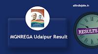MGNREGA Udaipur Result