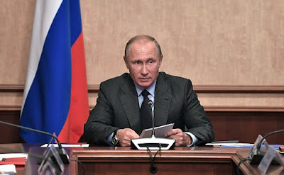 Vladimir Putin at the meeting of the Military-Industrial Commission.