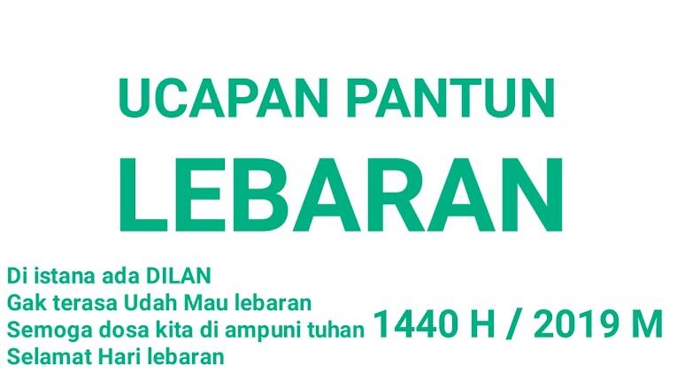 Ucapan Pantun Lebaran Idul Fitri 1140 H 2019 M Terbaru