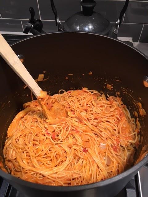 Spicy Tomato Cream Pasta