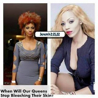 christian women bleaching body