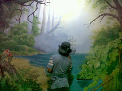 Mural tema hutan