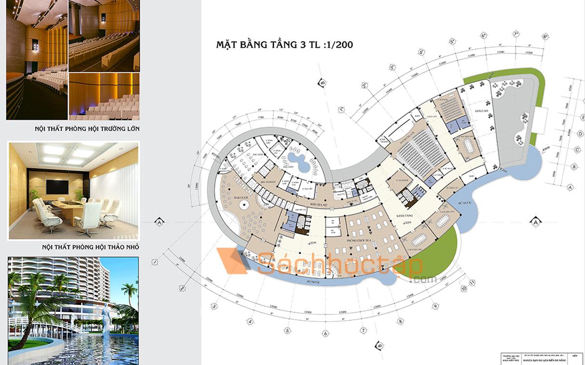 Đồ án tốt nghiệp KTS: Đồ án khách sạn du lịch biển Đà Nẵng - Ảnh cắt từ đồ án