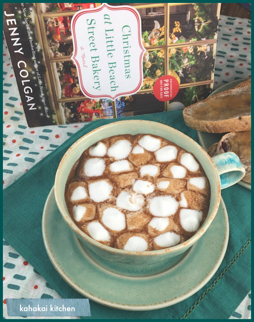 Kahakai kitchen the book tour stops here a review of christmas at there is a recipe for the hot chocolate in the back of the book along with recipes for the knishes mincemeat twists and galette des rois forumfinder Image collections