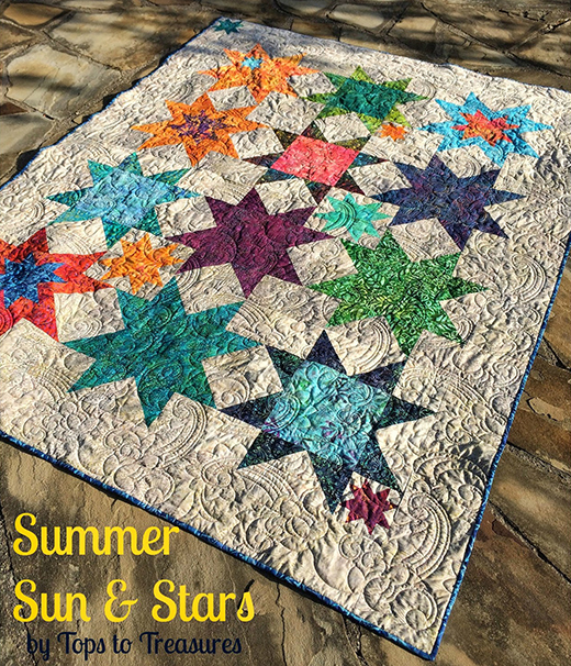 Summer Sand and Stars Quilt Free Tutorial