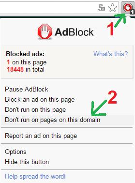 désactiver adblock exosup.com