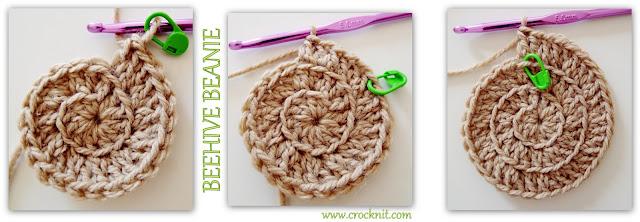 how to crochet, beehive beanie, spiral hats, surface crochet, free crochet patterns,