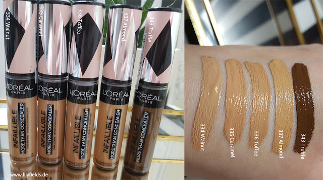 L'Oreal - Infaillible More Than Concealer - Swatches
