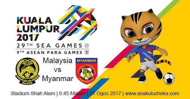 Live Malaysia vs Myanmar Football Sea Games 2017
