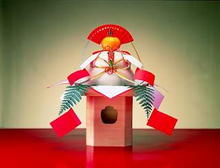 kagami mochi dulce adorno tradición año nuevo japon