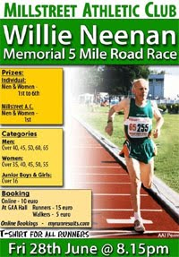 5 mile race in NW Cork... Fri 28th June 2019