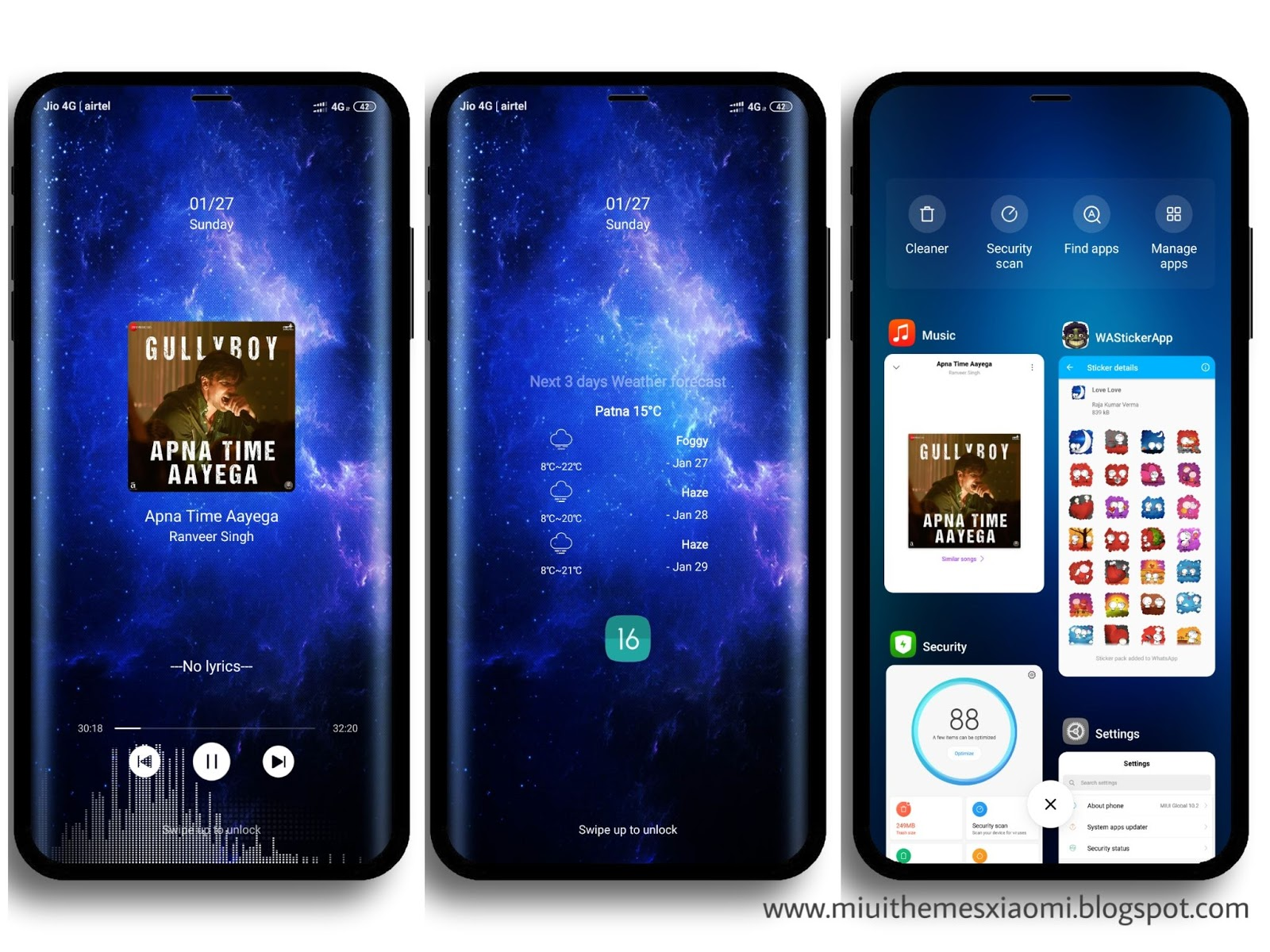 Samsung Galaxy Edge V10 MIUI Theme Download For Xiaomi Mobile
