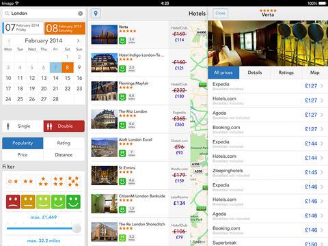 Trivago;  aplikacja; app; travel app