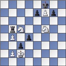 Estudio artístico de ajedrez de Francisco Valls Uyá, Italia Scacchística 1932