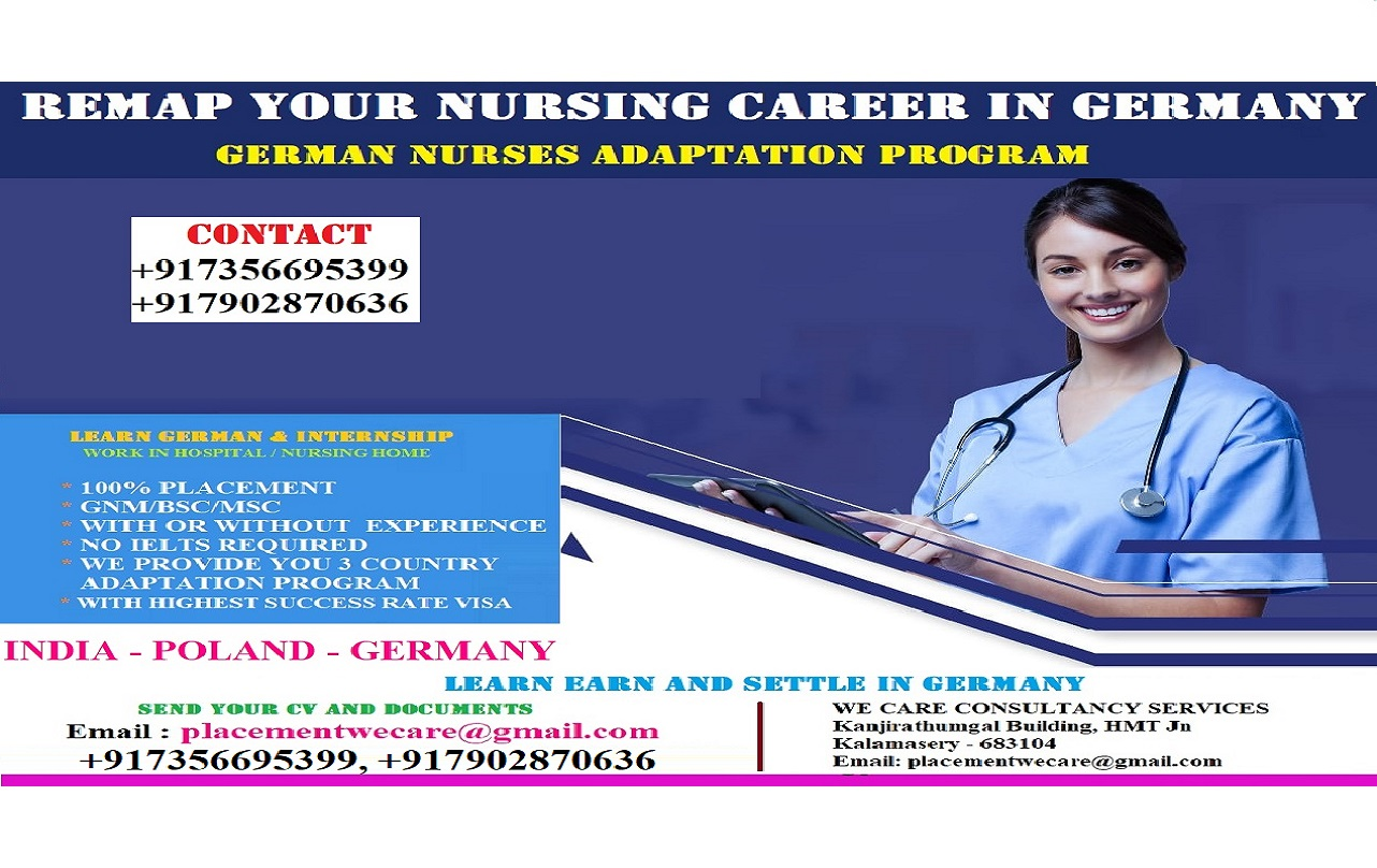 REMAP YOUR NURSING CAREER IN GERMANY - APPLY TODAY
