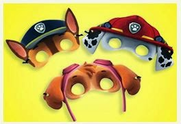 Paw Patrol Free Printable Masks and Ears.