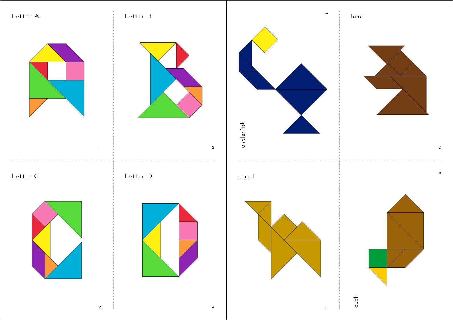 Colorful Tangrams Tpt