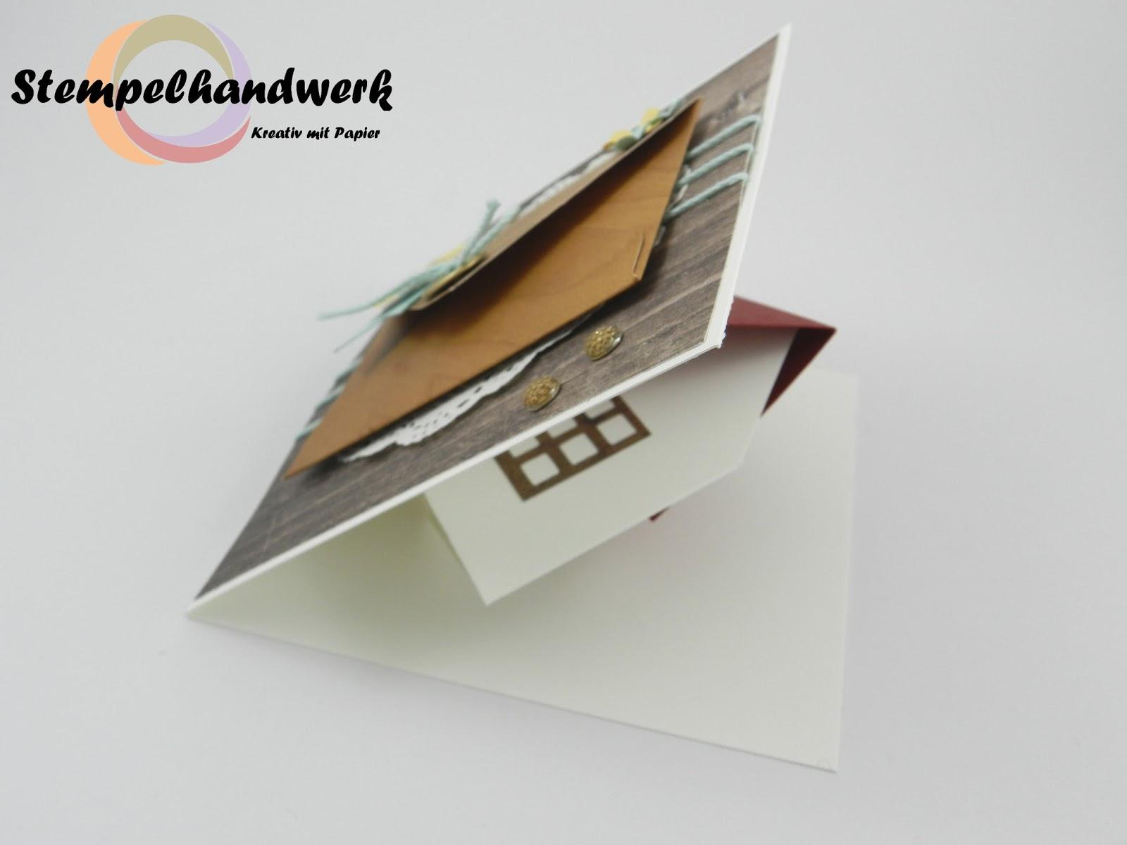 Stempelhandwerk: Eine Pop-Up-Karte zum Hausbau