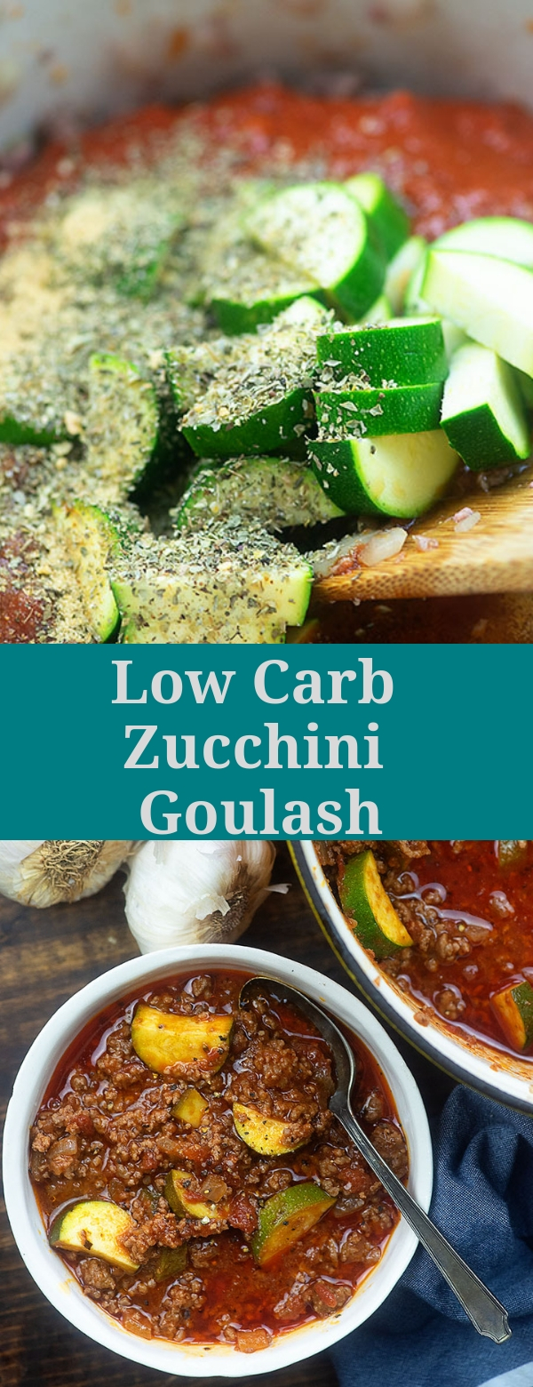 Low Carb Zucchini Goulash