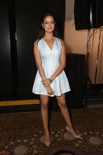 Shanvi Looks super cute in Small Mini Dress at IIFA Utsavam Awards press meet 27th March 2017 48.JPG