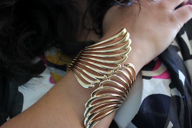 Forever 21 Gold Wing Cuff