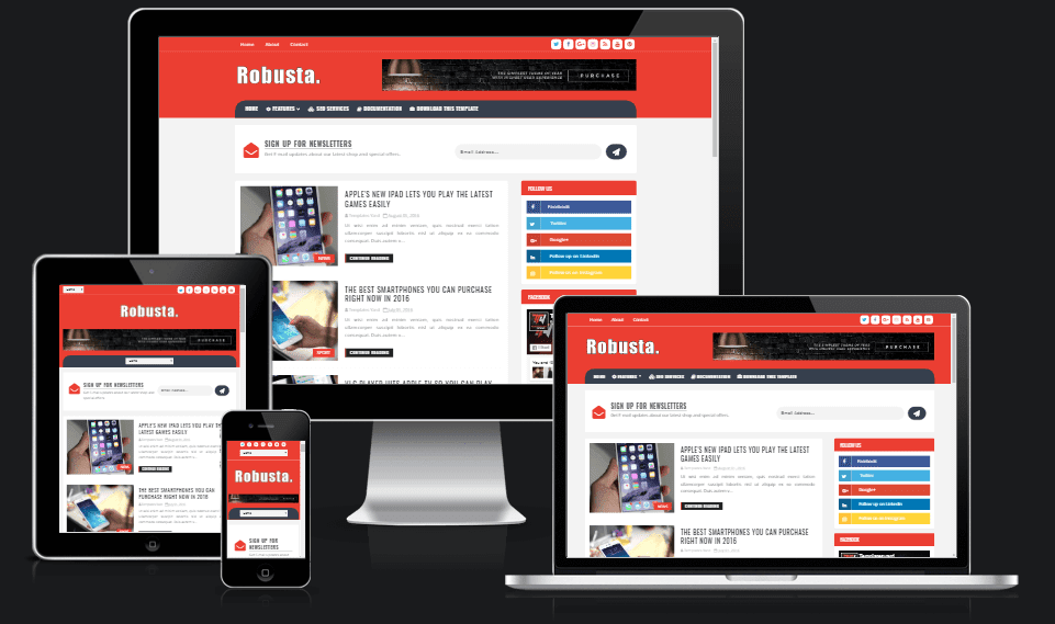 Robusta blog blogger template templatesyard free blogger robusta blog blogger template maxwellsz