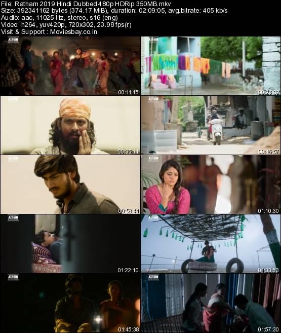 Ratham 2019 Hindi Dubbed 480p HDRip 350MB