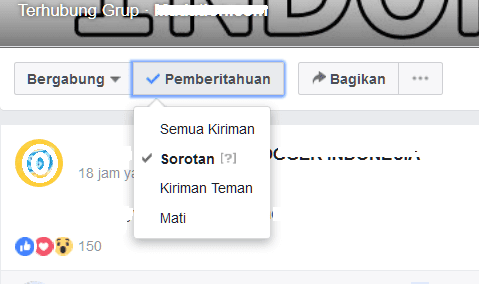 mematikan notif facebook