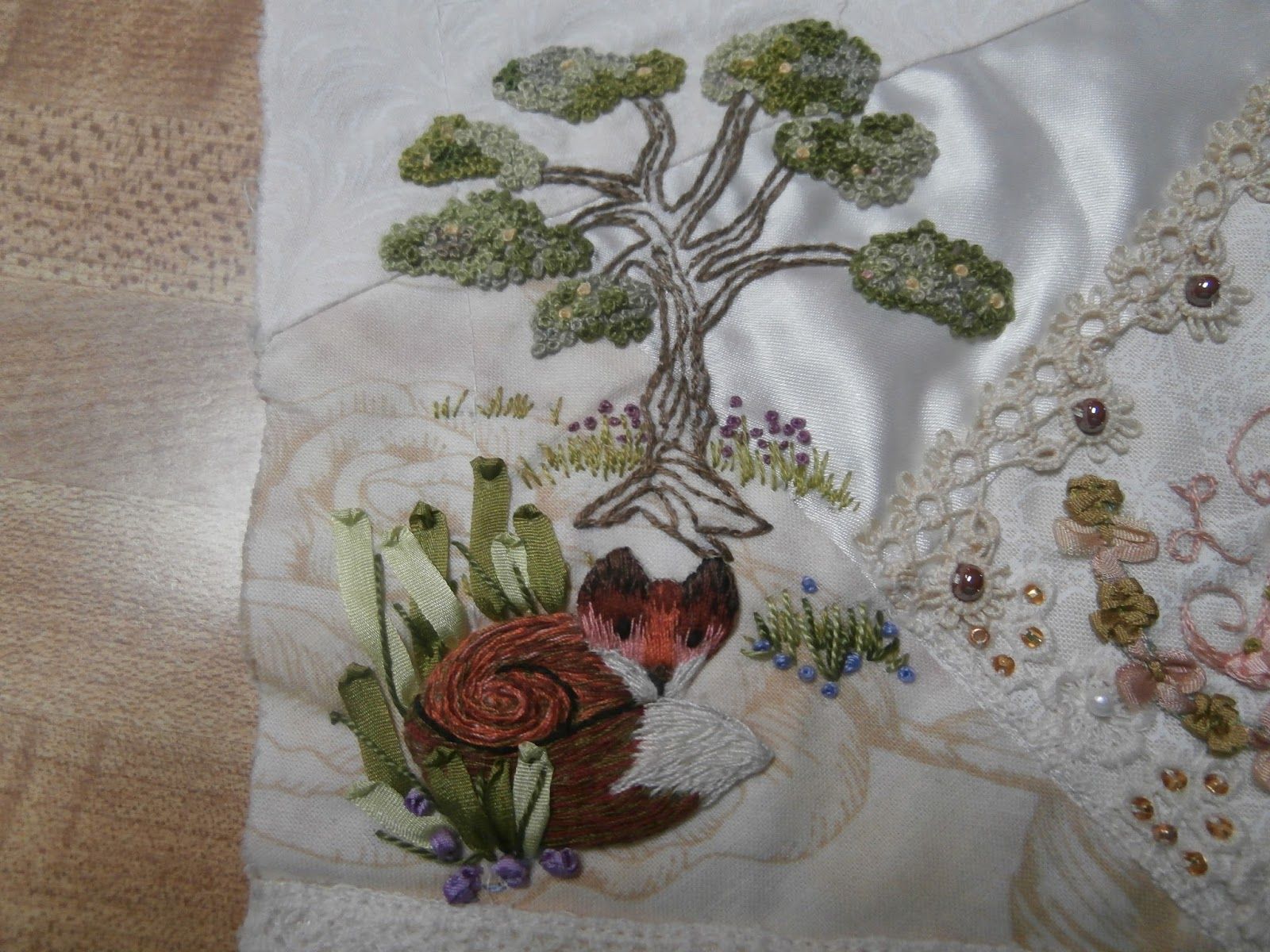 The First Step Is To Do The Embroidery In A Hoop So It Doesn't Pucker Due  To Using So Much Thread