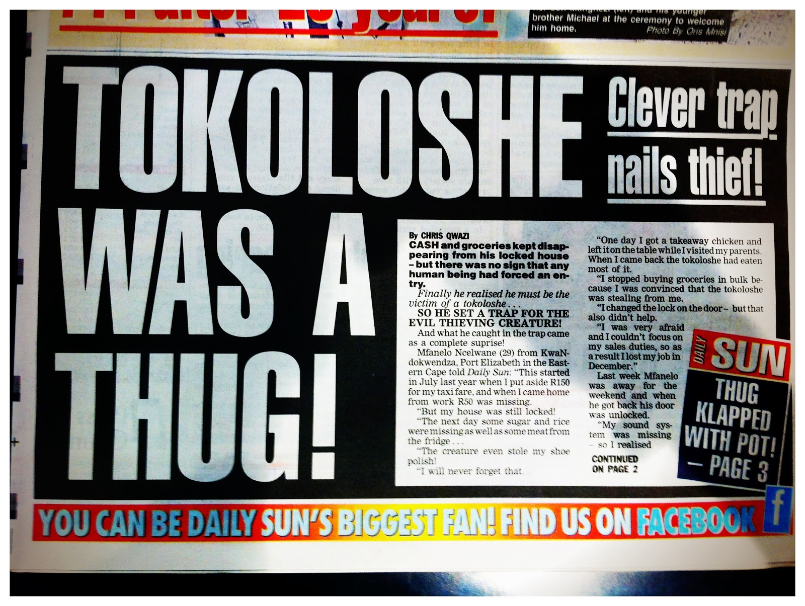 It's Life...: Tokoloshe Was A Thug