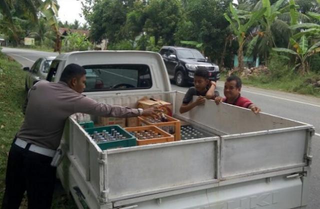 Pengedar Minuman Palsu diringkus di Aceh besar