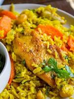 Makan Borongan Nasi Briyani Ayam