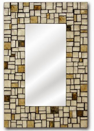 Espejo rectangular nacar gresite