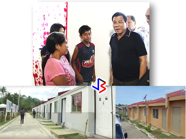 Victims of the onslaught of typhoon Yolanda  in Tacloban, Leyte is now enjoying  far better homes under the Duterte administration.   President Duterte awarding the house units to the victims of typhoon Yolanda.  Families who lost their homes express deep gratitude  to President Rodrigo Duterte as they were given a more durable, typhoon resilient and more presentable houses than they had before the super typhoon strike. Bella, one of the beneficiaries of a house unit at the New Hope Village, the relocation site for Yolanda victims, expressed her satisfaction on their new home.   READ: DUTERTE  SPEED    New Hope Village Landmark at Brgy Sta. Elena, Tacloban City  Complete with kitchen and bathroom. You can also put a partition for bedrooms. Bigger than their formal house as Bella described. Far from the coastal area where they lived before, the New Hope Village is safer for the relocated families.  Bella showing her kitchen in her newly awarded home.    Bella showing her new bathroom.  Bella  was one of the many who opposes to be relocated due to proximity issues.    Their work and livelihood is very far from the relocation site as compared to the new site, their jobs and livelihood. But according to Bella, when the rain comes, the memories of the nightmare from Yolanda onslaught still haunts them and so they decided to pick up their baggages and move to the more safer village provided by the government.     According to the Tacloban City Disaster Risk Reduction and Management Office (CDRRMO), the houses are well built and complies to every standards set by the National Housing Authority (NHA). Any Irregularity in the construction may lead to non-issuance of permit from the City Engineers Office. Even the area is guaranteed safe  from typhoon devastation.         To keep the villagers secured, ten security guards are making rounds 24/7 all over the village. It's a part of the contract with the private contractors to the government. The villagers like Bella is enjoying safety and security of a private subdivision.       The smile on residents faces shows their satisfaction on their new homes and community.   The smile on residents faces shows their satisfaction on their new homes and community. An evident proof of President Duterte's compassion to every Filipino. As the name of the village implies, the victims of typhoon Yolanda has been given a new hope after the heartbreak and devastation caused by the disaster. They will once again rise and wear a new smile on their faces.  Top: President Duterte visited one of the house units with the newly moved in recipient. Below is the outside view of the houses.  PRESIDENT DUTERTE VISITS ADMIRAL TRIBUTS    DTI ACCREDITED CARGO FORWARDERS FOR 2017   NO MORE PHYSICAL INSPECTION FOR BALIKBAYAN BOXES    BOC DELISTED CARGO FORWARDERS AND BROKERS   BALIKBAYAN BOXES SHOULD BE PROTECTED  DOLE ENCOURAGES OFW TEACHERS TO TEACH IN THE PHILIPPINES