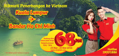 Vietjet Air Ticket Cheap Fares Flight Promo KL Ho Chi Minh