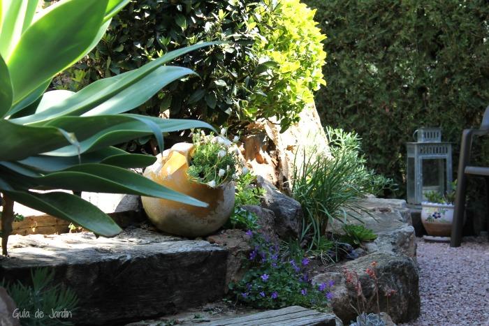 Farol de jardín en zinc