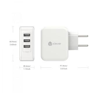 Recensione caricatore da muro iClever multi porta USB con Smart ID