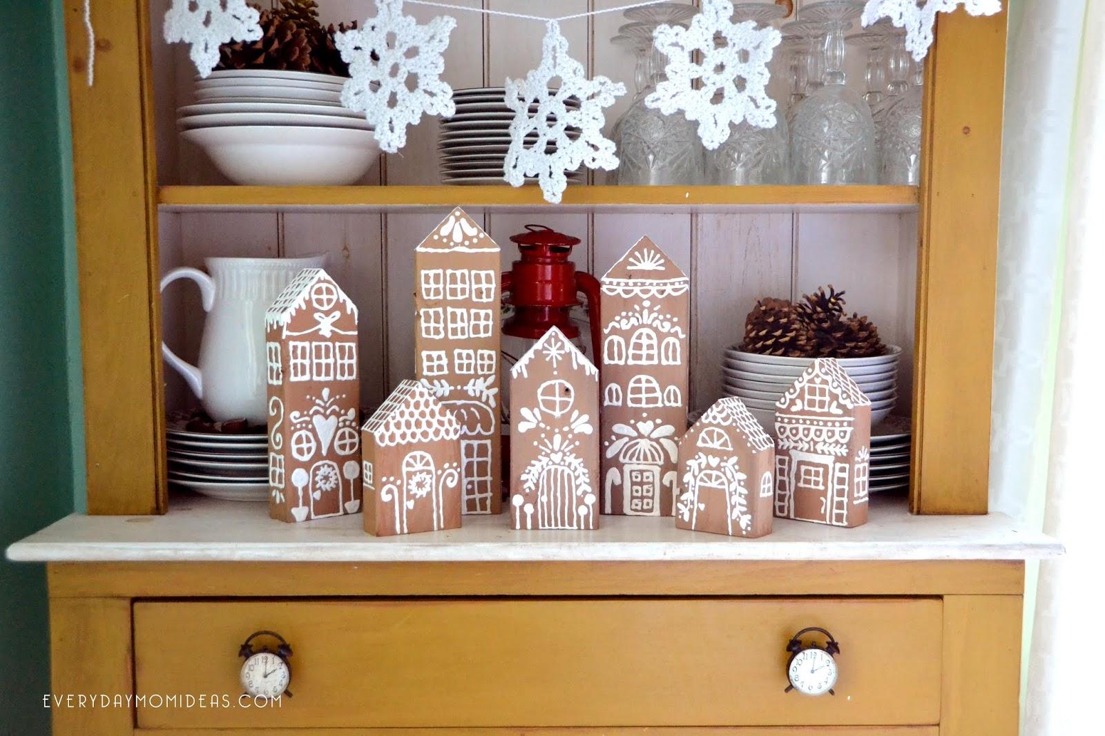2x4 Wood Gingerbread House Village Cheap Easy Diy Christmas Decor